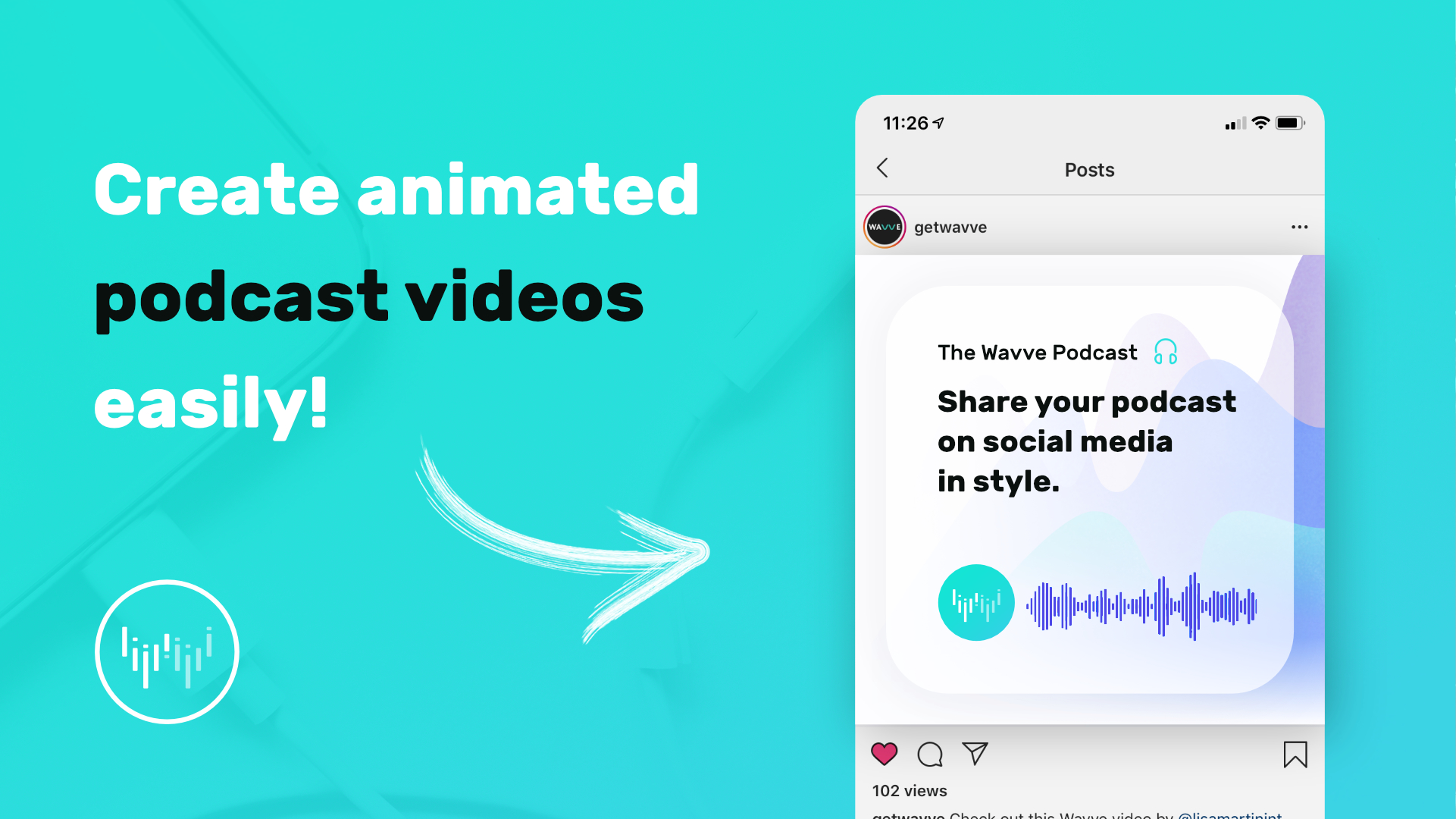 Wavve   Share Audio On Social Media By Turning It Into Custom Videos