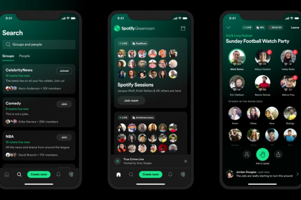 Spotify Greenroom activity